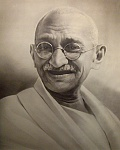 ghandi inembassady    Violence blows - another liberal value.